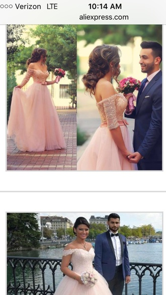 dress pink wedding dress