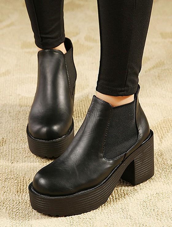 Bottes pour femmes plateforme chaussures femme chunky hauts talons de mode féminine martin pompes noir punk dans de sur Aliexpress.com