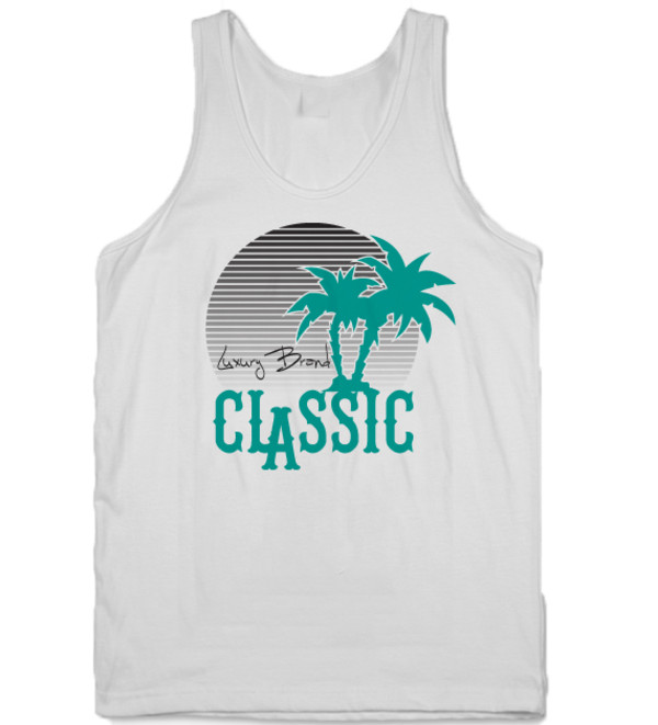 tank top tanks classic white mens tank top menswear mens tank top palm tree print graphic tee graphic tee graphic tank top
