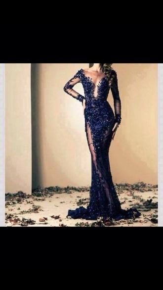 dress lace mesh v neck prom prom dress style lace dress navy dress