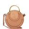 Pixie small leather and suede cross-body bag