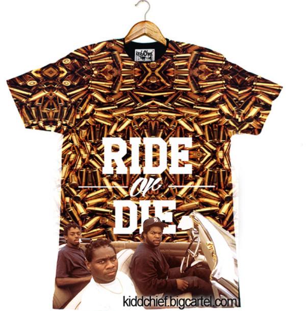 Ride or Die Shirt T-shirt Dope Ride or Die Sawgg