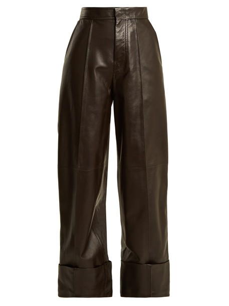 Joseph high leather brown pants
