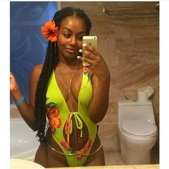 swimwear flowers body chain tropical swimwear bikini bodychain one piece swimsuit one piece
