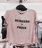 shirt,burger and fries