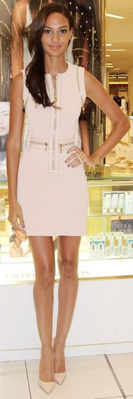 zippers dress bodycon dress nude