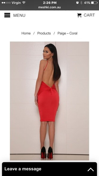 dress red low back backless shirt dress bodycon dress sexy dress cute dress