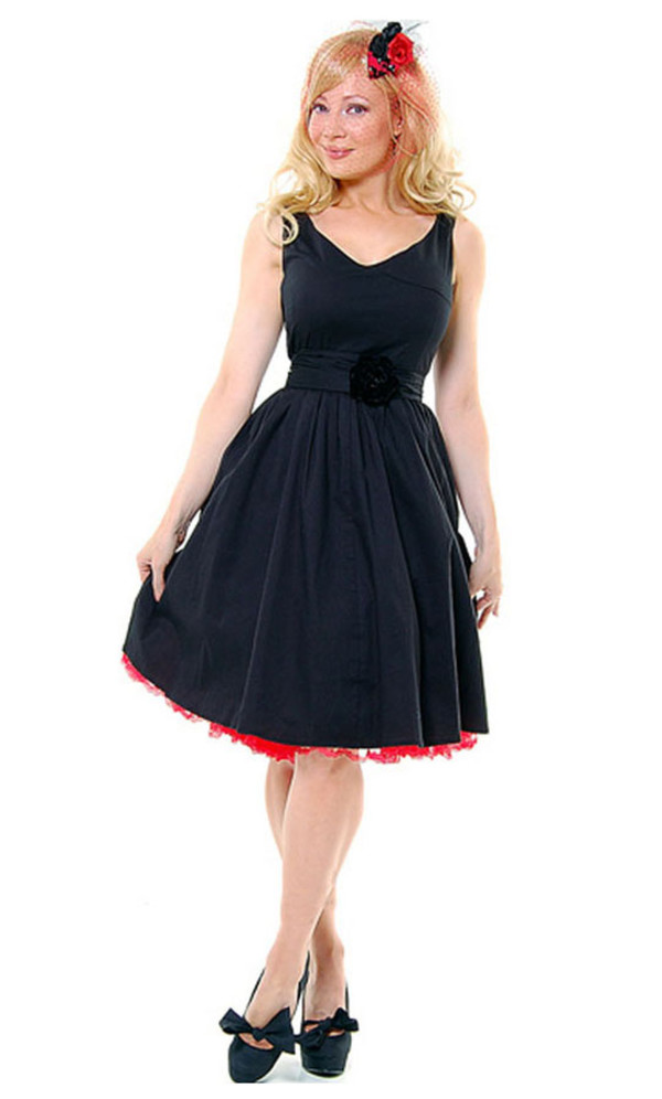 50s style clothes cute dress black dress rockabilly dress 50s style swing dress clothes 50s style vintage retro
