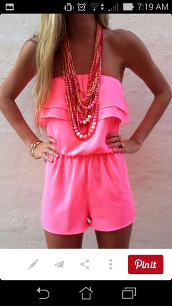 jumpsuit pink short jumpsuit