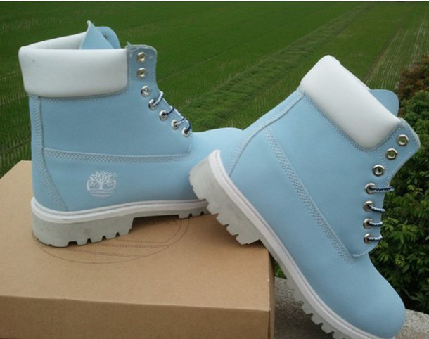 Shoes Timberland Light Blue Boots Wheretoget