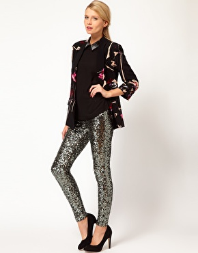 French connection sequin legging at asos
