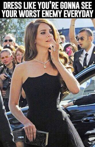 dress black dress lana del rey