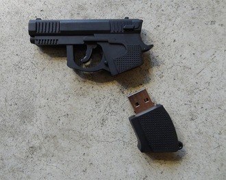 home accessory usb flash drive gun key black black gun key gun
