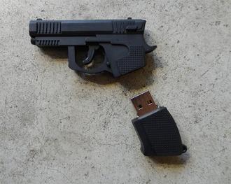 home accessory usb flash drive gun key black black gun key gun