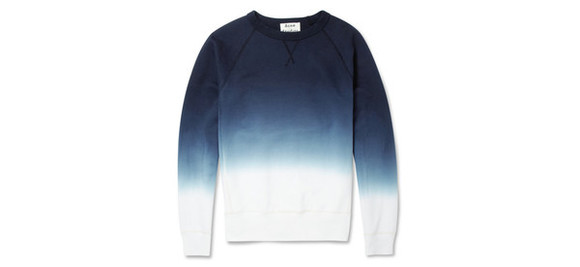 fashion dye white sweater fade winter sweaters ocean blue