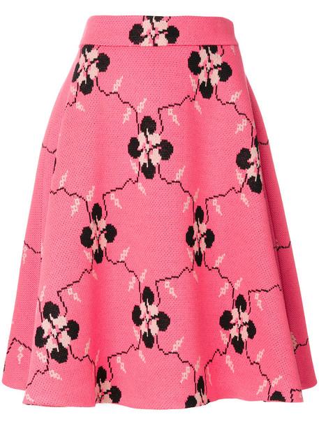 skirt women wool purple pink