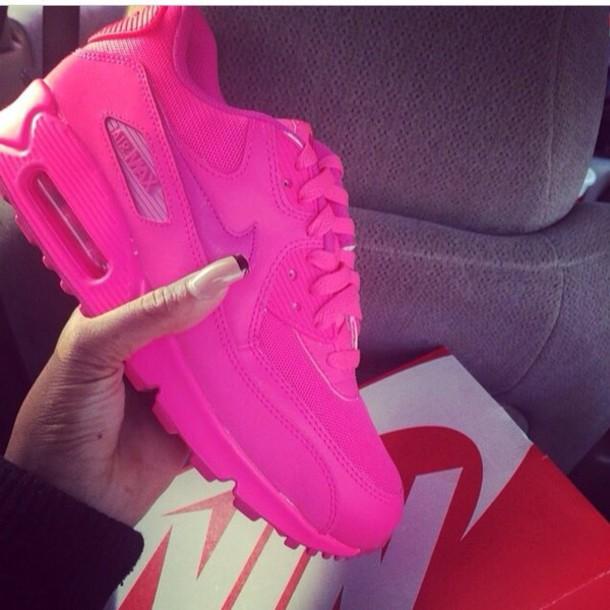5942511fd shoes nike air max 90 nike hot pink low top sneakers nike air pink girl nike