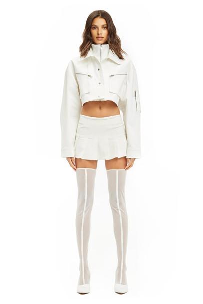 I Am Gia RAPHIE SKIRT - WHITE
