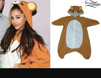 pajamas ariana grande teddy bear onesie