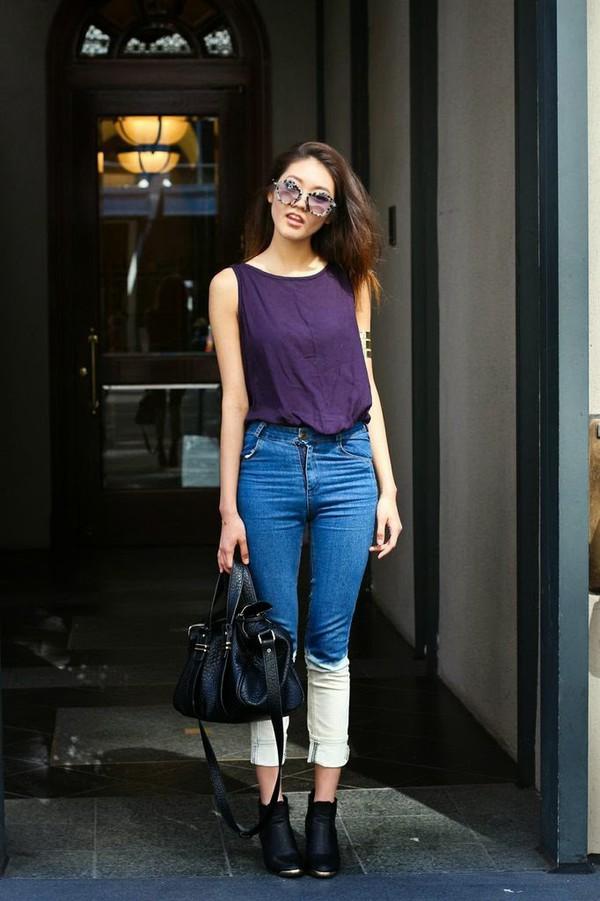 bam it's joanne cardigan top shoes bag jeans sunglasses jewels