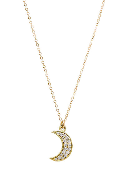 Mimi & Lu Moon Demi Necklace in gold / metallic