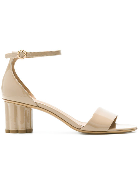 heel women sandals leather nude shoes