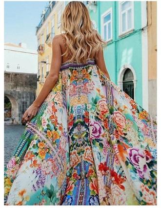dress beach dress boho dress coachella outfit floral dress maxi dress floral maxi dress coachella bohemian dress bohemian gypsy
