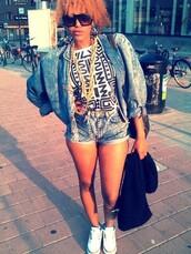 jacket,oversized,denim,acid wash,sunglasses,shirt