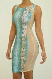 dress,snake print dress,snake print