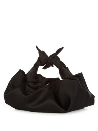 clutch satin black bag