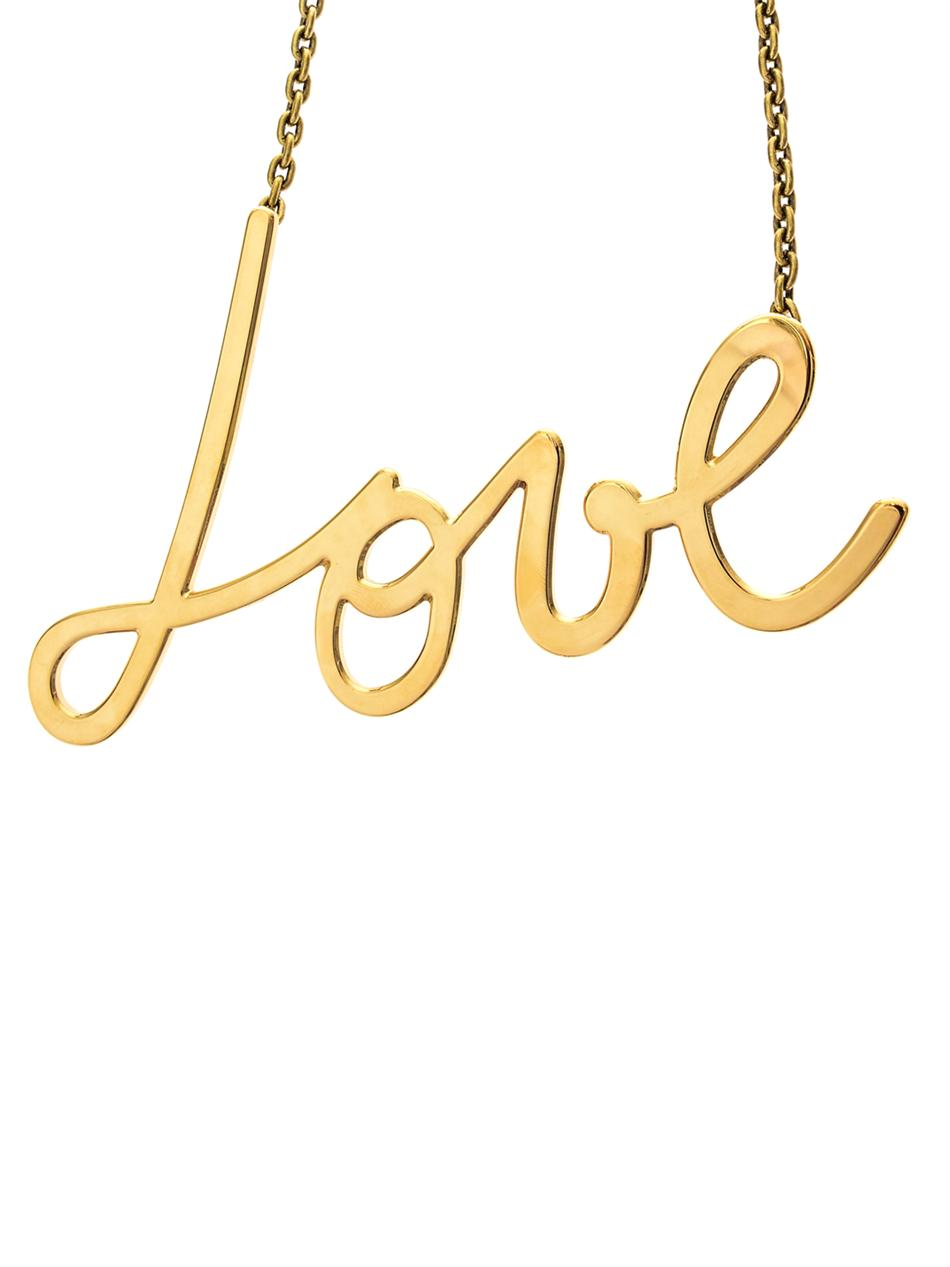 Iconic Love gold-tone necklace | Lanvin | MATCHESFASHION.COM