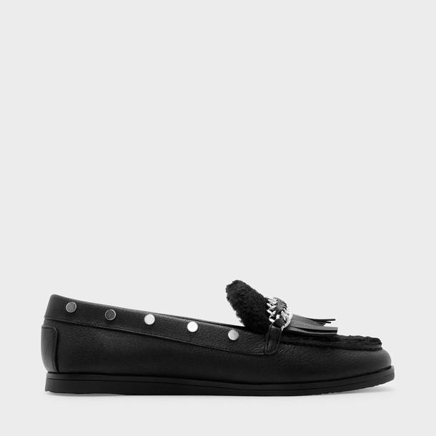 moccasins black shoes