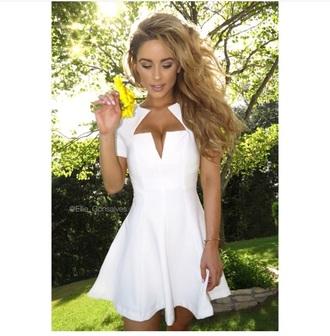 dress white dress sundress skater dress white skater dress