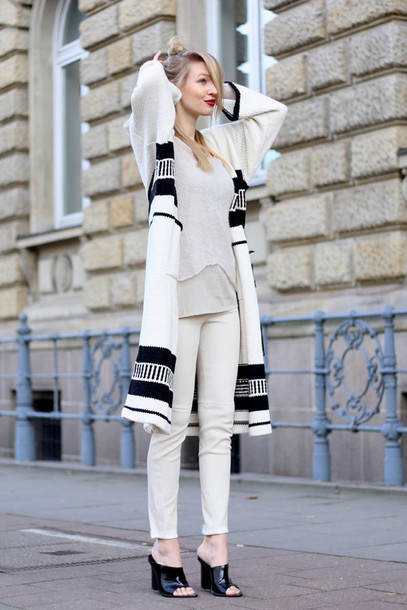 ohh couture blogger cardigan top sweater pants shoes bag make-up