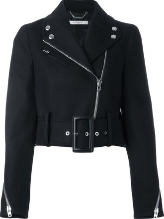 jacket biker jacket cropped black