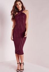 dress,burgundy dress,bodycon dress,missguided