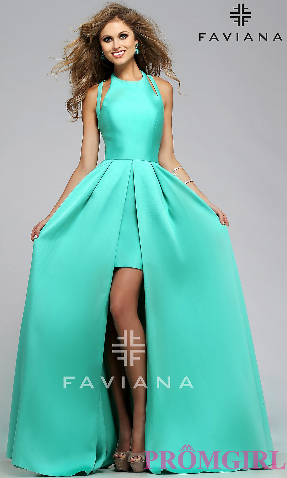 High-Low Open-Back Prom Dress