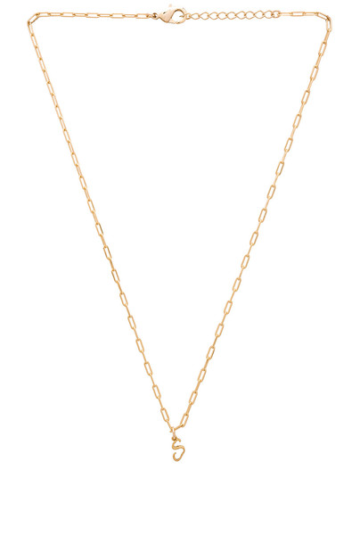 joolz by Martha Calvo S Initial Necklace in gold / metallic