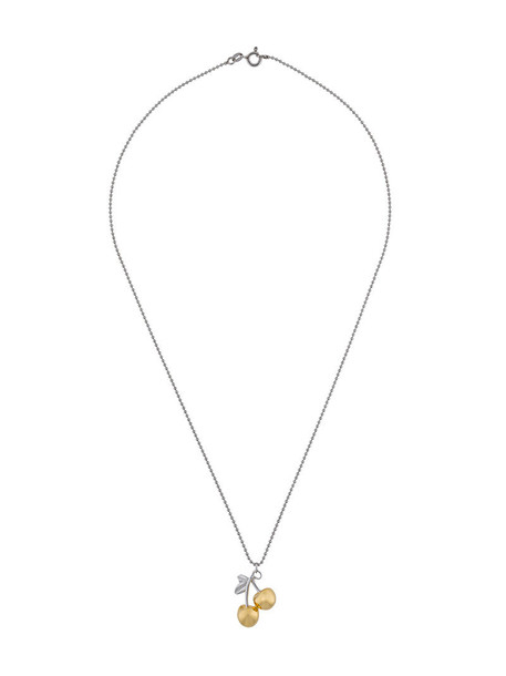 True Rocks cherry women necklace pendant gold silver grey metallic jewels