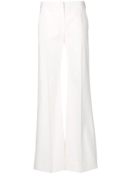 Max Mara women spandex white cotton pants