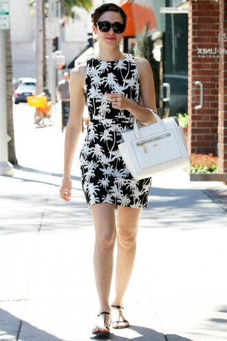 dress black and white emmy rossum
