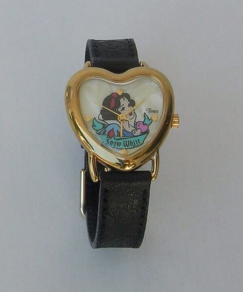 disney snow white jewels watch leather gold