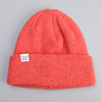 hat beanie coral winter outfits orange beany red reddish pink knitted beanie red beanie