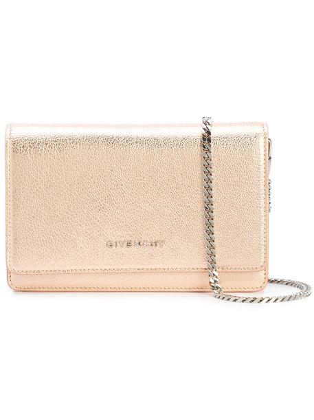 Givenchy women clutch grey metallic bag