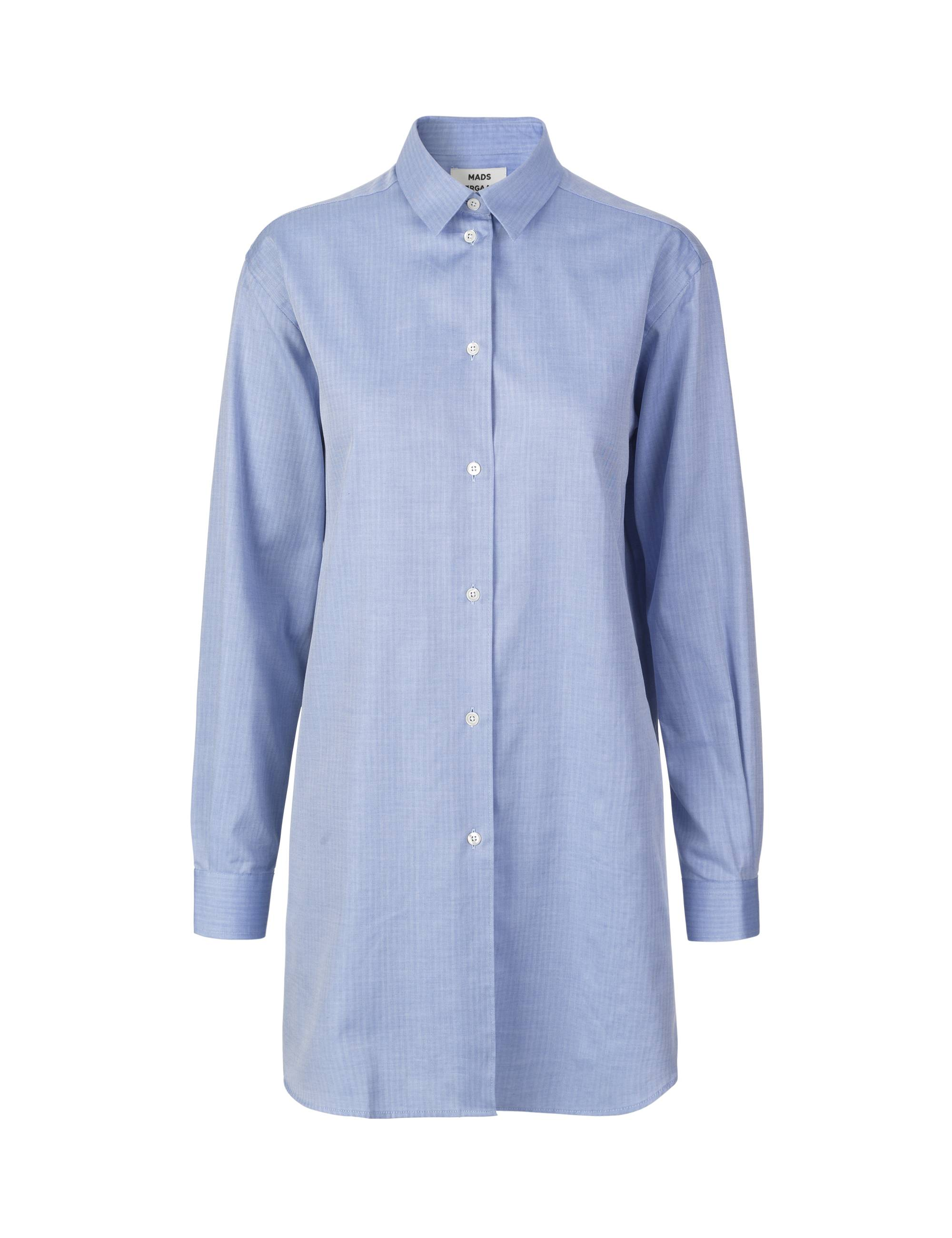 Blue oversize bone saxa shirt
