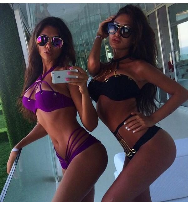swimwear strappy bikini purple bikini black bikini gold buckle blouse