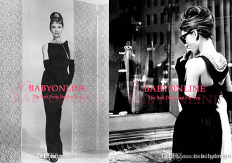 dress 194922808 audrey hepburn celebrity style evening dress prom dress little black dress