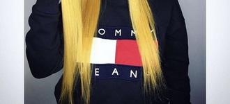 t-shirt vintage jumper tommy hilfiger aaliyah tommy hilfiger  top