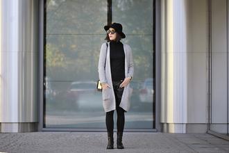 hat jewels blogger bag shiny sil top tights sunglasses make-up cardigan