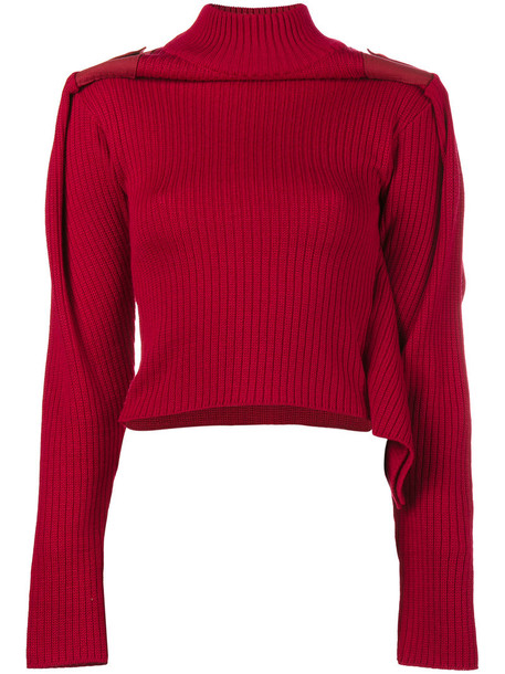 Y / Project jumper cropped jumper cropped women cotton wool red sweater